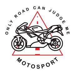 Motosport logotype. Vector. Illustration.