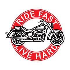 American classic motorcycle logotype. Vector. Isolated.