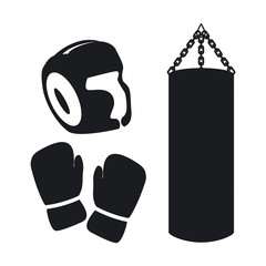 Vector illustration boxing icons