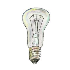 The illustration of lightbulb