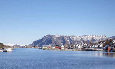 Harbor in winter
