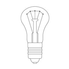 The contour illustration of lightbulb