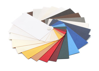 Fan of cardstock paper samples