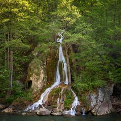Beautiful waterfall in Apuseni mountains