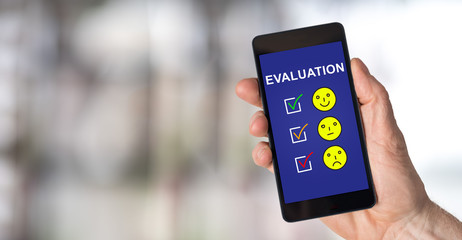 Evaluation concept on a smartphone