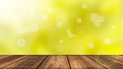 Frühlings-Hintergrund vor einem Holztisch