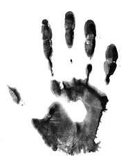 Handprint. Concept of paint human hand.