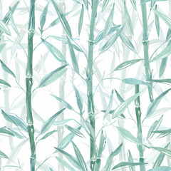 Seamless abstract pattern of African design. Bright background with a watercolor effect.