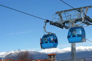 Ski lift, cabin