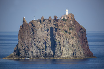 Strombolicchio island next to stromboli