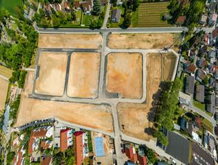 Luftaufnahme Baugelände einer Siedlung