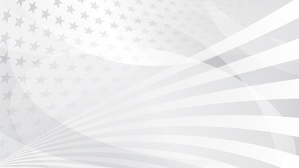 Independence day abstract background with elements of the american flag in gray colors Wall mural