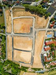 Luftbild Baugelände einer Siedlung