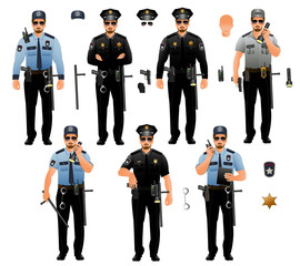 Police officers, isolated