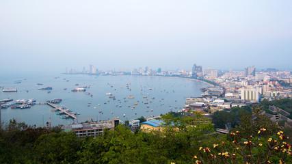 The most beautiful Viewpoint Pattaya Beach in Pattaya city Chonburi,Thailand.