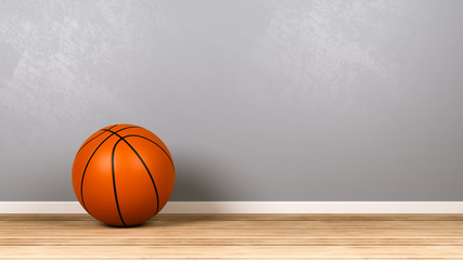Basketball in the Room with Copyspace