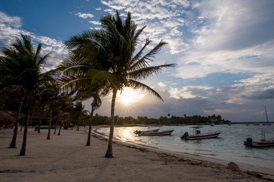 Morning Sun AKumal Beach Riviera Maya Mexco