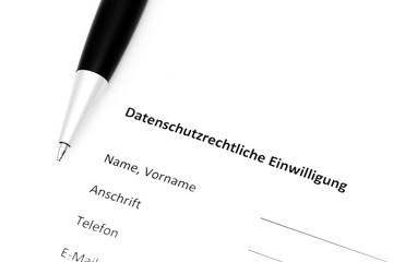 Datenschutzrechtliche Einwilligung