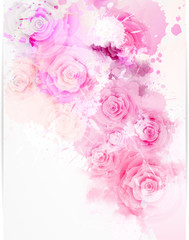 Background with abstract roses
