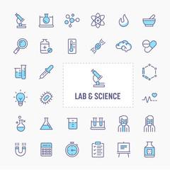 Lab & Sciences Minimal Icon Set