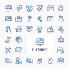 E-learning & Online Training Icon Set