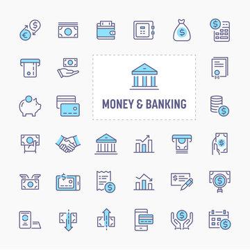 Money & Banking Icon Set