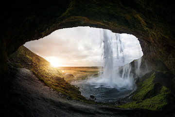 Seljalandsfoss Wasserfall, Island Fotomurales