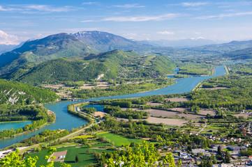 Panoramic view of rural France