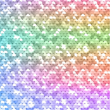 Seamless colorful iridescent sequined texture - vector illustration eps10