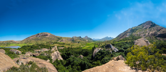 Anja Community Reserve, sheltered forest habitat among vast boulders with rich wildlife. It is home to the highest concentration of maki, or ring-tailed lemurs, in Madagascar.