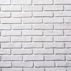 White brick wall. Block background, design pattern