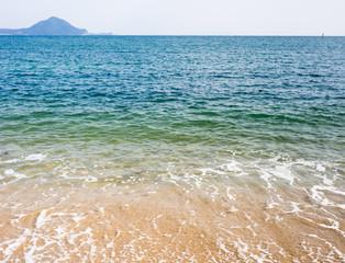Beach with white sand on Kunisaki peninsula, Japan