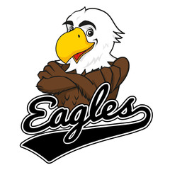 Eagle Mascot with Baseball logo