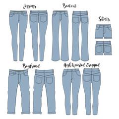 Vector Women's Jeans template