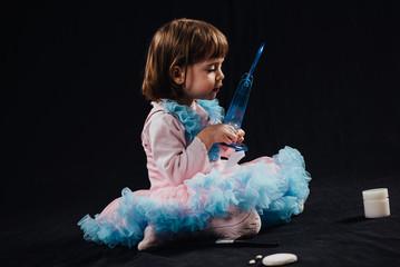 Little Girl In A Rose Dress