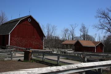 Red Barn on a Farm