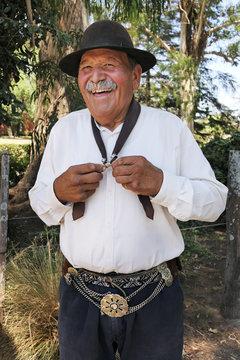 Traditionally dressed man