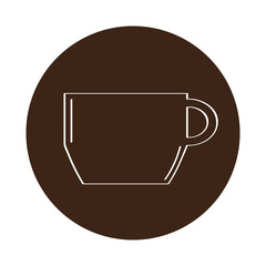 Isolated coffee mug icon on a label
