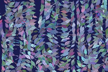 Abstract background with shape of leaves drawing pattern. Backdrop, messy, decoration & mosaic.