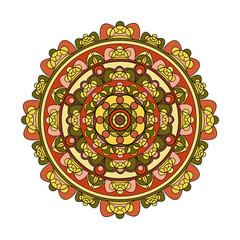 Vector illustration of a colored mandala, mandala colorato vettoriale