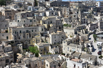 Italy, Basilicata, Matera, city of stones, Unesco heritage, capital of European culture 2019. View of the ancient city