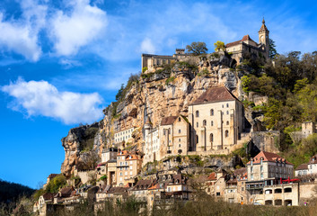 Wall Mural - Rocamadour village, a beautiful UNESCO world culture heritage site, France