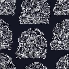 Seamless background of oyster mushroom