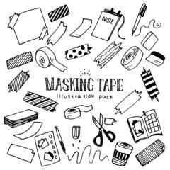 Masking Tape Illustration Pack