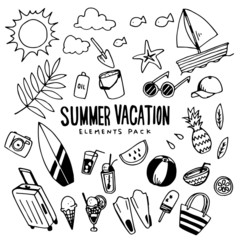 Summer Vacation Illustration Pack