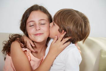 Kissing sister