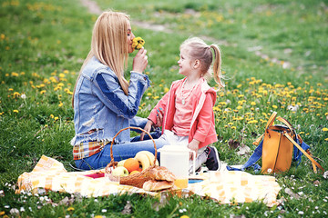 Enjoying picnic in the park