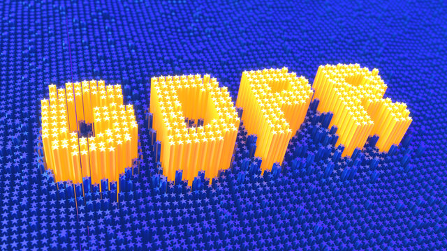 General Data Protection Regulation GDPR yellow stars glowing