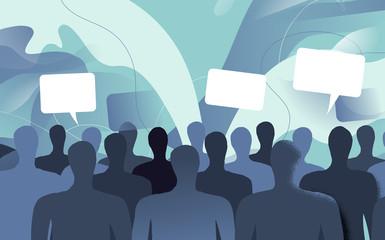 Persone della società civile che commentano e dibattono