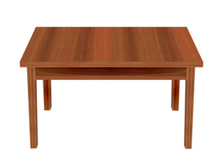 Wooden table.Vector Illustration.EPS10.